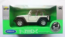 WELLY JEEP WRANGLER RUBICON WHITE 1:34 DIE CAST METAL MODEL NEW IN BOX