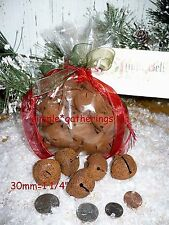 "Primitive Rusty Jingle Bells 72 pcs  30mm 30 mm  1 1/4"" Crafts Christmas"
