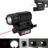 5000LM LED Rifle Shotgun Flashlight Red Dot Laser Sight Mount Hunting Lights CR2