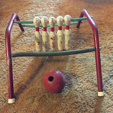 VTG MANSFIELD-ZESIGER MFG OHIO - FIVE PINS - BOWLING GAME W/BALL - RARE!!