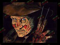 "Freddy Krueger original acrylic painting 12x16"" print"