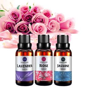 Pure 30ml Rose Lavender Jasmine Natural Essential Oils Aromatherapy Therapeutic