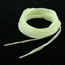 1 Pair Fluorescent Knitted Shoelaces for Roller Skates Hockey Boots - Yellow