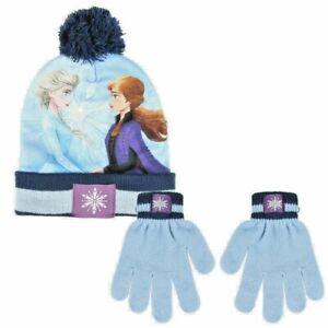 Official Disney Frozen II Hat & Gloves set Children Kids