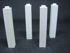 LEGO 2453 Brick 1 x 1 x 5 - Hollow Stud (x4) WHITE 6093 6242 6398 7573 7744 7754