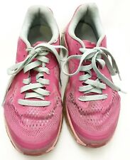 Nike Air Max Youth Girl Size 4.5 Y GS Pink Blue Running Shoes Sneakers
