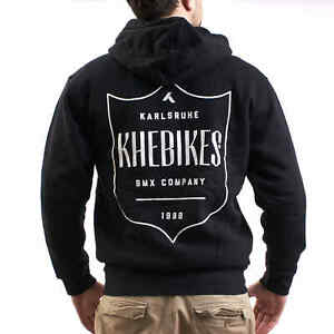 KHE BMX Hoodie Zip Hoodie with Zipper Black 100% Cotton S