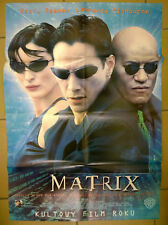 Keanu Reeves Laurence Fishburne - The Matrix - Polish promo POSTER