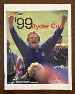 1999 Ryder Cup Golf Digest Boston Globe Supplement Brookline MA Tiger Woods