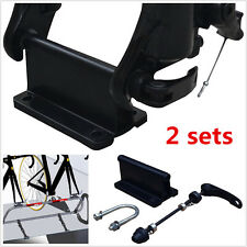 2pcs Quick Release Bicycle Alloy Fork Mount Pickup Truck Bed Rack Carrier Holder