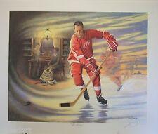 """James LUMBERS """" MR HOCKEY """" LTD art print Detroit Red Wings GORDIE HOWE"""
