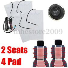 Universal Car 2 Seats Carbon Fiber Heated Seat Heater Kit High-Low Switch 12V