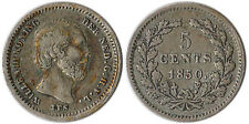 1850 Netherlands 5 Cents Silver Coin Willem III KM#91