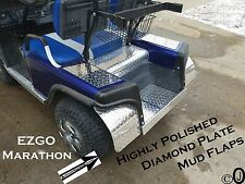 Ezgo Marathon Golf Cart Highly Polished Diamond Plate Mud Flaps / Guards