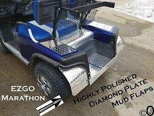 Ezgo Marathon Golf Cart Highly Polished Diamond Plate Mud Flaps / Guards