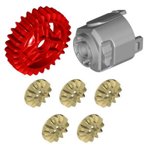 Lego 7x Genuine Technic Differential Gears (Makes 1 Set) - 6589 65413 65414 NEW