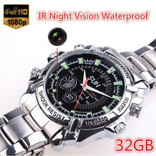 32GB Spy Watch Camera IR Night Vision HD 1080P Waterproof Hidden Watch Camera