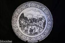 """Corona 11"""" Decorative Black & White Collector Plate"""
