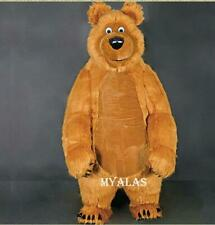 2.6m Inflatable Brown Bear Mascot Costume Adults Cosplay Fancy Dress Outfits UK