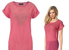 Melrose Damen Shirt Bluse Pink Neu Gr.38