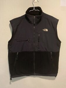The North Face Men's Denali Polartec Fleece Vest Size LARGE Full Zip Pockets