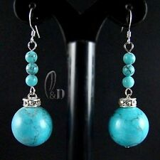Blue Turquoise Natural Fine Earrings