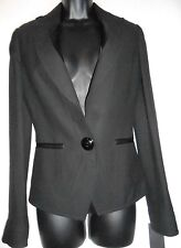 NEW Iceberg black blazer / jacket with silk trim IT40/XS  RRP 1070€