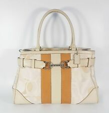 COACH F13338 Hamptons Optic Signature Carryall Tote in Cream / Ivory / Tan -RARE