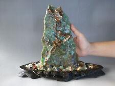 Natural Australian Green Jade Gemstone Rock Opaque Chrysoprase Rough Crystal