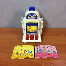 Vintage 1985 Tomy Talking Tutor Robot + 49 Cards