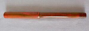 Stylo Plume WATERMAN CONE CAP n°12, mottled red and black, plume Or. Ca.1905