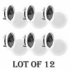 "Lot of (12) - PYLE PDIC81RD 8"" 2000W Round Wall And Ceiling Home Audio Speakers"