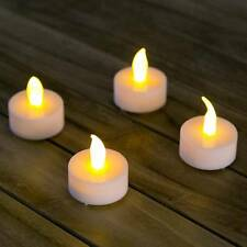 4 x LED TEELICHTE TEELICHTSET TEELICHTER LED-KERZEN MIT BATTERIEN + SCHALTER