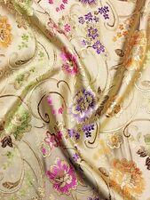 Chino BROCADO floral flor de tela de oro de Asia Oriental
