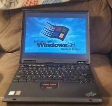 Vintage IBM Thinkpad T23 Laptop Windows 98 SE Operating System Serial Port 2647
