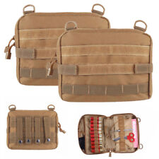 2X Large 1000D Molle Belt Tactical Magazine Organizer Utility EDC Pouch Bag Tan