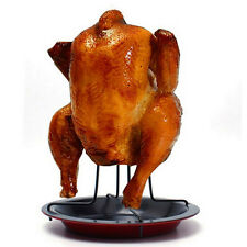 Chicken Duck Holder Rack Grill Stand Roasting For BBQ Rib Non Stick Carbon Steel