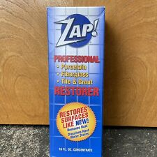 New ZAP! Professional Restorer Tile & Grout Cleaner 16oz Bottle Concentrate