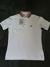 New Mens Vivienne Westwood Polo Shirt Large White