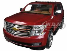 2015 CHEVROLET TAHOE LTZ CLARET RED 1/24 DIECAST MODEL CAR BY NORSCOT 65111