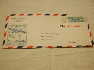 U.S Air Mail 1939 New York to Marseille