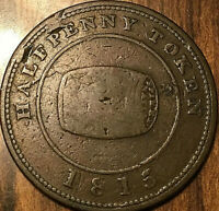 1815 NOVA SCOTIA HALIFAX MW WHITE BARREL HALFPENNY TOKEN