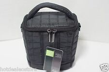 NEW FujiFilm Black Puffy Quilted Long Zoom Camera Case - 600012062 - FinePix