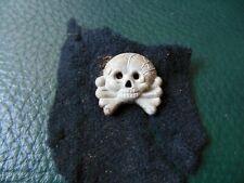 ww2 german panzer skull badge élite original fabrics