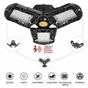 Motion Sensor LED Foldable Garage Light High Bay Lamp Ceiling Light Deformable