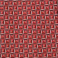BRIONI Red Black White Optical Cube Dimaond Design Stunning Men's Silk Neck Tie