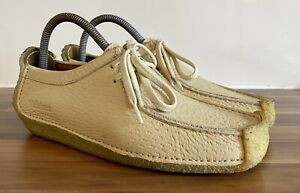 Clarks Originals Vintage Wallabees Womens Size 5.5 Beige Leather Great Condition