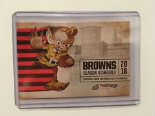 NFL CLEVELAND BROWNS 2018 FOOTBALL POCKET SCHEDULE  - NEW