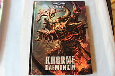 Games Workshop Warhammer 40k Codex Khorne Daemonkin Hardback Rule Book WH40K GW