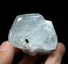 Light Blue Aquamarine Beryl crystal w/ Cassiterite Undamaged China CM463788